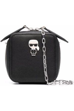 Karl Lagerfeld Naiset Olkalaukut - Logo-plaque zip-up satchel bag