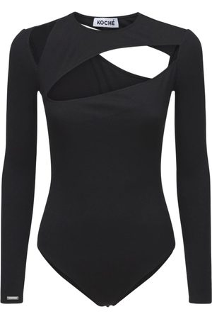 KOCHÉ Naiset Bodyt - Ribbed Jersey Body W/cut Out Details