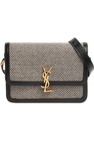 Saint Laurent Naiset Olkalaukut - Medium Solferino Tweed Shoulder Bag