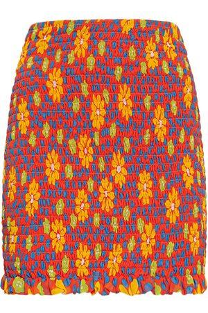 Saint Laurent Daisy Print Silk Mini Skirt