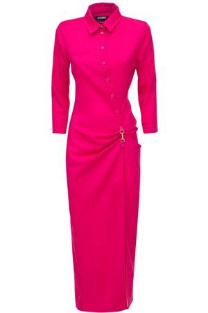 Jacquemus La Robe Jocou Wool Knit Midi Dress