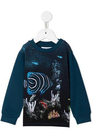 Molo T-paidat - Botanical-print cotton sweatshirt