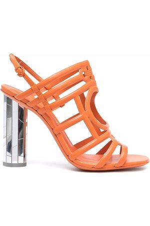 Salvatore Ferragamo Naiset Sandaletit - Mirrored Heel Strappy sandals