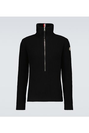 Moncler Knitted half-zipped sweater