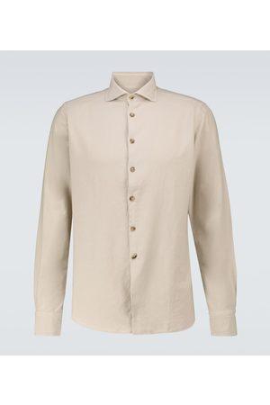 LARDINI Miehet Pitkähihaiset - Cotton shirt