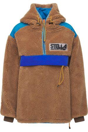 Stella McCartney Naiset Collegepaidat - Oversized Faux Fur Sweatshirt Hoodie