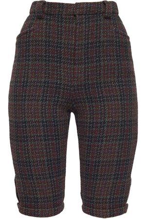 Saint Laurent Virgin Wool Tweed Bermuda Shorts