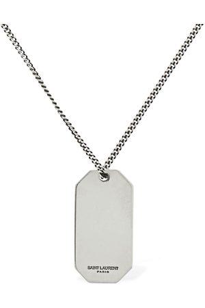 Saint Laurent Miehet Kaulakorut - Plaque Long Necklace