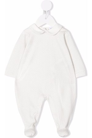 Emporio Armani Jacquard-logo cotton babygrow