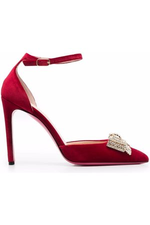 DEE OCLEPPO Gem-bow detail pointed pumps