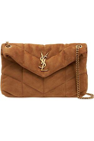 Saint Laurent Small Loulou Suede Shoulder Bag