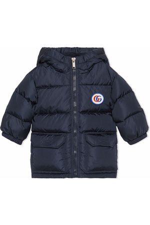 Gucci Kids Päällystakit - Padded logo-patch hooded coat