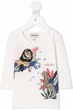 Kenzo T-paidat - Tiger-graphic print top