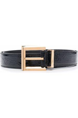 VERSACE Miehet Vyöt - Crocodile-embossed square-buckle belt
