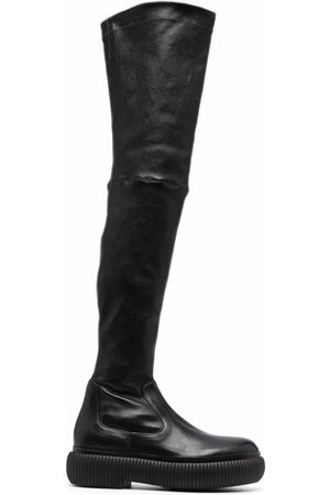 Lanvin Naiset Ylipolvensaappaat - Thigh-high leather boots