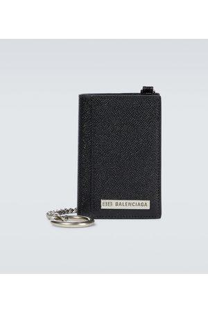 Balenciaga Miehet Lompakot - Plate vertical leather wallet