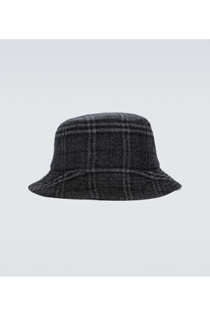 Burberry Miehet Hatut - Wool and cashmere checked bucket hat