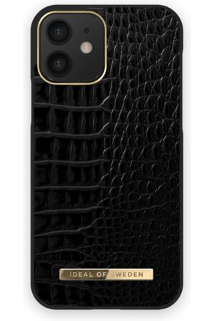 IDEAL OF SWEDEN Naiset Puhelinkuoret - Atelier Case iPhone 12 Neo Noir Croco