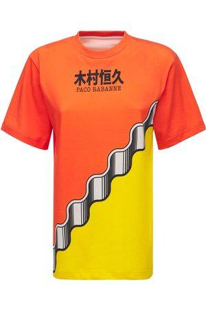 Paco rabanne Printed Logo Cotton Jersey T-shirt