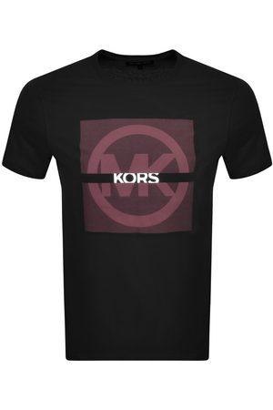 Michael Kors Short Sleeve Split Logo T Shirt Black