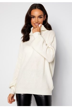 Guess Naiset Poolopaidat - Siliva Rollneck LS Sweater G012 Cream White XXL