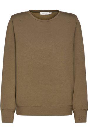 Lounge Nine Lnkira Shoulderpad Sweatshirt Neulepaita Ruskea