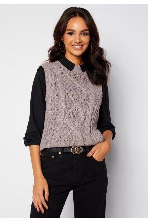 VILA Atlan Knit Vest Light Grey Melange S