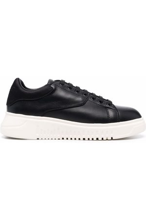 Emporio Armani Panelled low-top leather sneakers