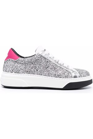 Dsquared2 Naiset Tennarit - Glittered low-top sneakers