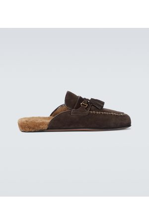 Tom Ford Suede and shearling mules