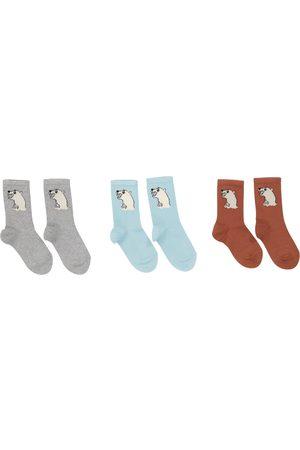Mini Rodini Tytöt Setit - Set of 3 pairs of cotton-blend socks