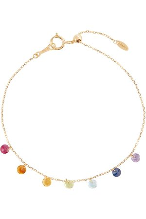 Persée 7 Chakras 18kt gold bracelet with amethyst, turquoise, ruby, citrine, peridot and sapphire