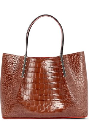 Christian Louboutin Cabarock Small croc-effect leather tote