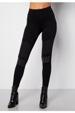Happy Holly Naiset Leggingsit - Allison biker leggings Black 36/38
