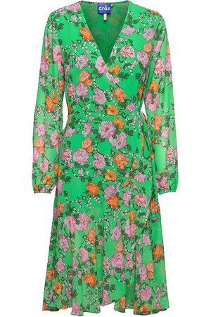 Crās Hudson Dress Dresses Wrap Dresses Vihreä