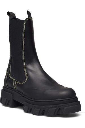 Ganni Calf Leather Shoes Chelsea Boots