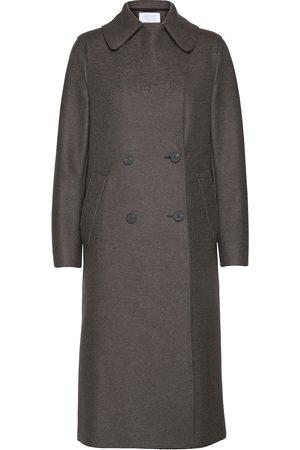 Harris Wharf London Women Military Coat Pressed Wool Villakangastakki Pitkä Takki Beige