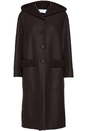 Harris Wharf London Women Over Hooded Coat P.Wool And Bouclé Villakangastakki Pitkä Takki