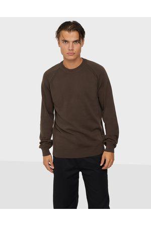 Solid SDLuno O-neck Organic Neuleet & swetarit Black
