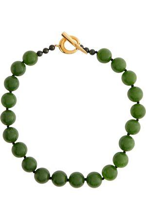Sophie Buhai 18kt gold vermeil necklace with jade