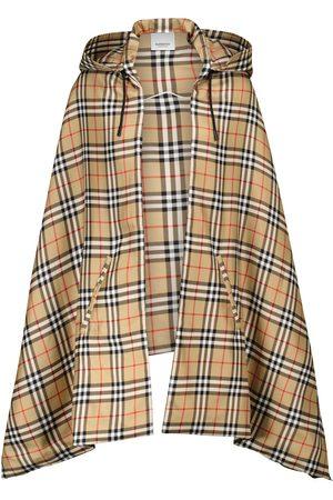 Burberry Hooded silk cape