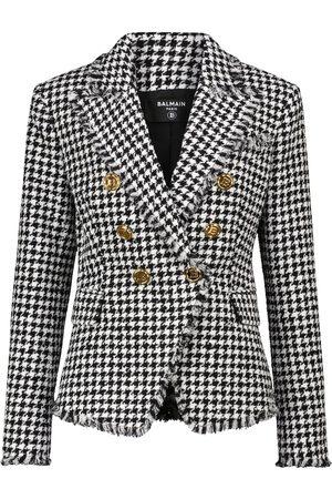 Balmain Houndstooth tweed blazer
