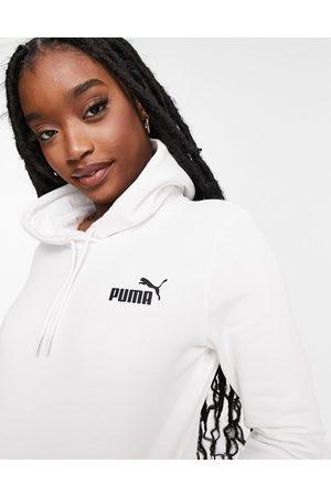 Puma Essentials small logo hoodie in white