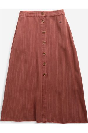 Bobo Choses Strip Print Wrap Skirt Polvipituinen Hame Punainen