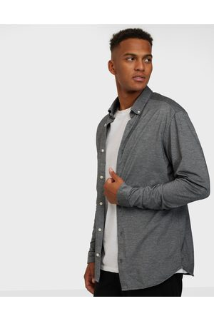 jack & jones Jjepique Shirt L/S Kauluspaidat Light Grey Melange Slim Fit