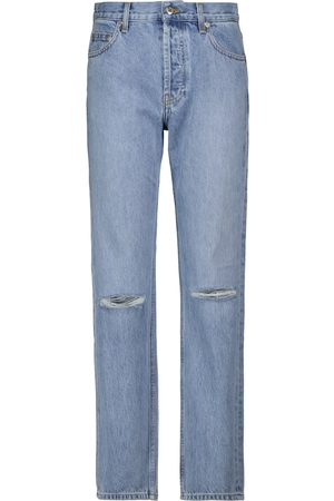 Helmut Lang Distressed high-rise straight jeans