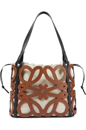Loewe Anagram Small cutout leather tote