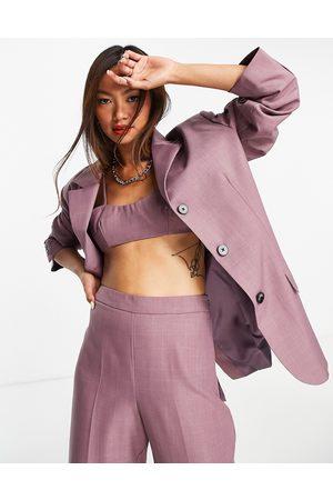 Topshop Naiset Bleiserit - Oversized single breasted blazer in purple