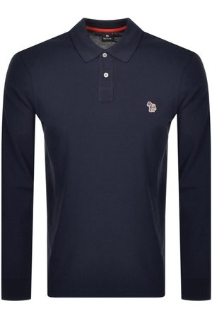Paul Smith PS By Long Sleeved Polo T Shirt Navy