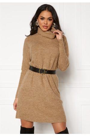 ONLY Jana L/S Cowlnck Dress Indian Tan L